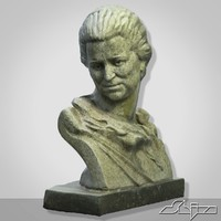 3d sculpture woman bust 1