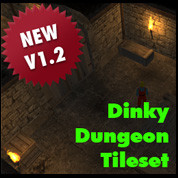 dinky dungeon tileset tile 3d model