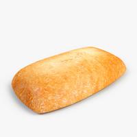 bread white 3d model