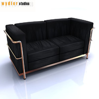 le corbusier sofa lc2 3d 3ds