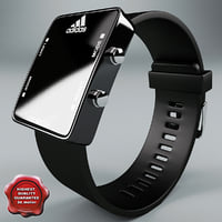 adidas led watch black 3d model
