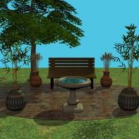 3d park scene