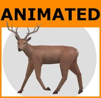 Animated Low Poly Deer