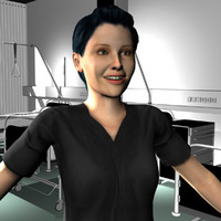3d model of female medical staff