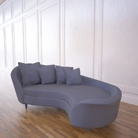 3d model sofa curved