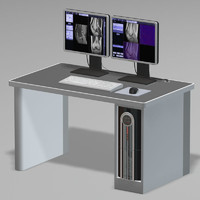 mri workstation computer pc 3d model