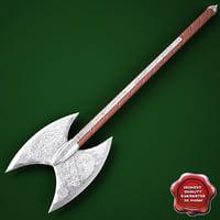 medieval axe v6 3ds