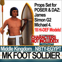 3d model props set daz egyptian