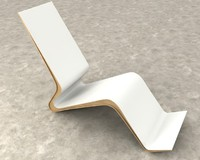 dancing chaise 3d obj