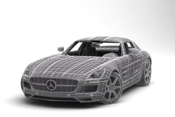3d model mercedes benz sls amg - Rigged Mercedes Benz SLS AMG... by anasyakoub