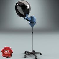 salon stand hair dryer 3d max