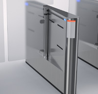 3ds max turnstile door lobby