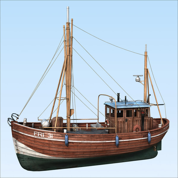 fishing boat 3d max - Fishing boat... by henningb