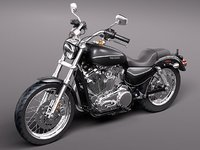 3d model of harley davidson sportster 1200