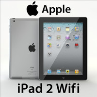 realistic ipad 2 wifi 3d 3ds