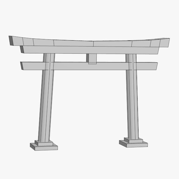 3d model japanese gate - japan gate... by 3DMB