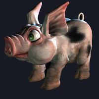 Low Poly Pig - Piglet