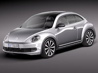 volkswagen beetle bug 2012 3d model