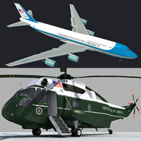 3d model boeing air force marine
