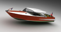 3d model of chris craft holiday 1962