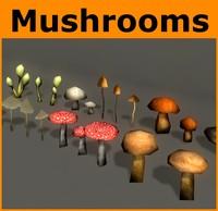 3d ready mushroom