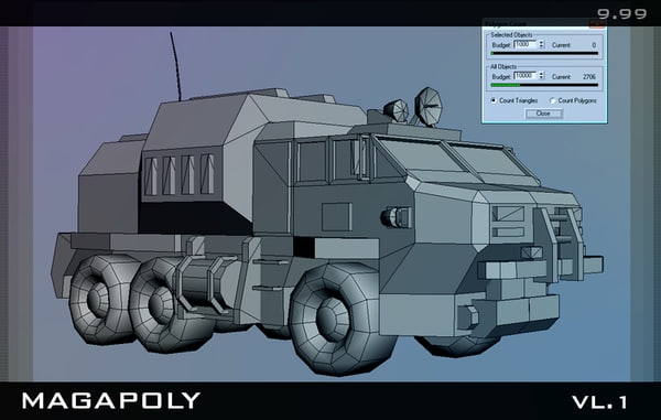 truck car military 3d model - Truck... by benderPro