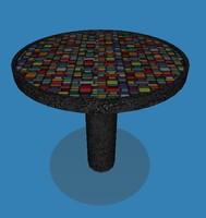 3d modern table model