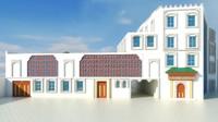 model arabic building