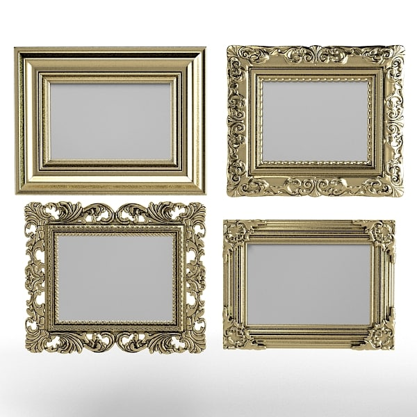 Classic picture frames set baroque carved victorian mirror framing.jpg