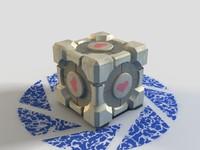 companion cube 3d max