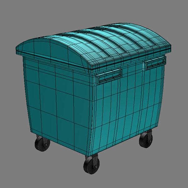 Industrial Garbage Containers : Industrial waste bin d model