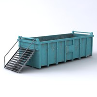 Large Waste Container and Steps