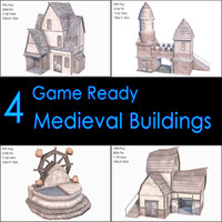 3d model medieval buildings ii house