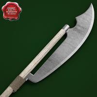 3d model medieval spear v4