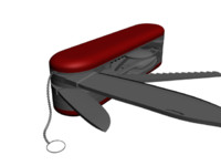swiss army knife 3d model