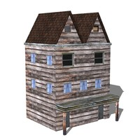 3d model victorian slums
