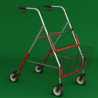 Folding wheeled walker