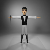3ds max man character jockey