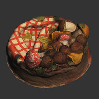 3ds max cake basket mushrooms