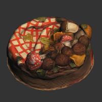 Mushroom Basket Cake