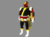 3d model retro super hero