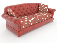3d model chesterfield sofa