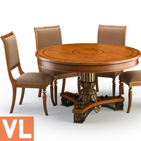 3d chair dining group model