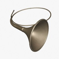 hunting horn 3d model