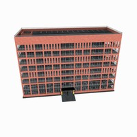 residential office building 3d obj