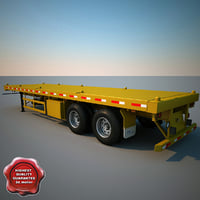 c4d container semi trailer