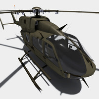 3d model uh-72 lakota helicopter eurocopter
