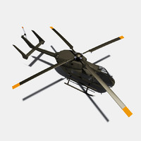 uh-72 lakota helicopter eurocopter 3d model
