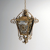 3ds max hanging wrought iron lantern