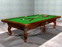 The billiard(snooker)table